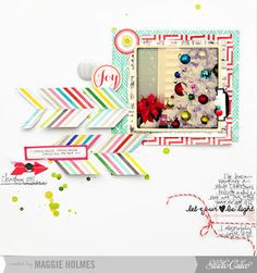 Joy by maggie holmes at Studio Calico Dec Kit  ---Colors, arrows, white space, journalling