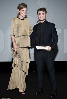 A magical reunion: Clemence reunited with her Harry Potter co-star Daniel Radcliffe at the premiere of his new movie Imperium in France on Friday