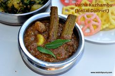 Vatha Kuzhambu is a famous south Indian recipe. Vatha kuzhambu has many variations and this Nellai district vatha kuzhambu. Its easy to make and taste very good.