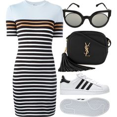 Sem título A fashion look from February 2017 featuring T By Alexander Wang dresses, Yves Saint Laurent shoulder bags and Fendi sunglasses. Browse and shop related looks. Teen Fashion, Love Fashion, Korean Fashion, Fashion Looks, Fashion Outfits, Womens Fashion, Fashion Trends, Mode Outfits, Trendy Outfits