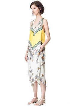 15 Summer Dresses Under $100 You'll LOVE #refinery29  http://www.refinery29.com/46595#slide13  Zara Printed Dress, $79.90, available at Zara.