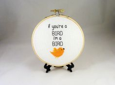 If You're A Bird I'm A Bird Anniversary Gift Love by Quirkorium, $21.00