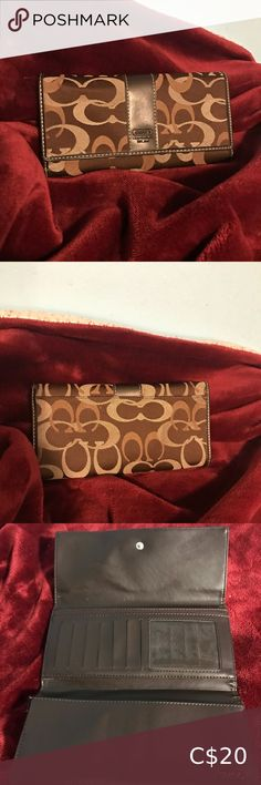 Coach wallet Beautiful Vintage Coach wallet. Small cracks depicted. Coach Bags Wallets Coach Clutch, Coach Wallet, Purple Leather, Brown Leather, How To Stretch Boots, Change Purse, Vintage Coach, Coach Bags, Leather Wallet