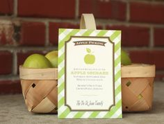 Fall Party | Harvest | Thanksgiving Invitation | Apple Orchard