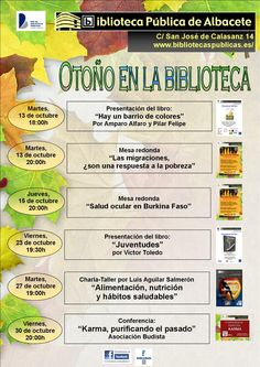 #actividadesbiblioteca Actividades para adultos octubre 2015