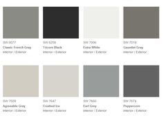 Beautiful Living Style: Color Trends 2014 - What Do You Think? thinking about agreeable gray Grey Exterior, Exterior Paint Colors, Exterior House Colors, Cottage Exterior, Sherwin Williams Gray, Peppercorn Sherwin Williams, Gauntlet Gray Sherwin Williams, Sherwin Williams Extra White, Trending Paint Colors