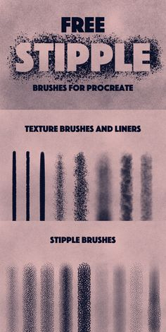THIS PACK INCLUDES: 17 brushes - 9 stipple brushes, 3 liner brushes, 5 texture brushes. Brushes are in .brushset file ( Installing the .brushset file format, you'll need iOS 11 and Procreate version or higher) Best Procreate Brushes, Graphic Design Tips, Ios Design, Dashboard Design, Stippling Brush, Affinity Designer, Ipad Art, Photoshop, Digital Art Tutorial
