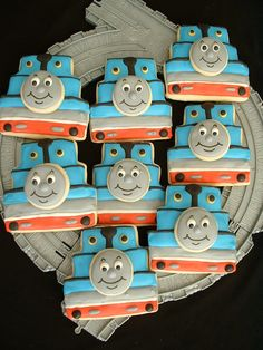 Train cookies - these would be a huge hit!