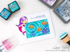 A bit of my crafts: Stenciling with Distress Inks and Stamping with Di...