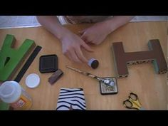 A do it yourself tutorial on making baby name block letters for your nursery/childrens room