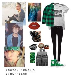 """Ashton Irwin's Girlfriend"" by justkittyfanggyg ❤ liked on Polyvore featuring Maison Scotch, Rothco, Converse, Casetify, Lime Crime, outfit, 5sos, ashton, 5secondsofsummer and Irwin"