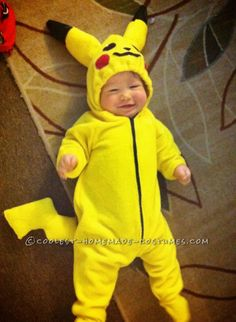 Adorable Picachu Baby and Ash Mom Costume...