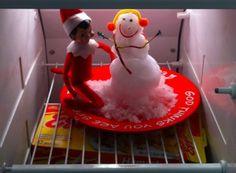 snowman elf on the shelf