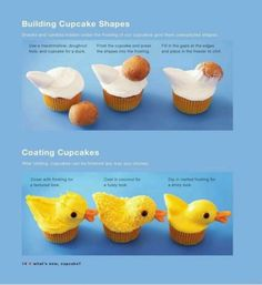 Baby shower ideas rubber ducky duck cupcakes Ideas for 2019 Duck Cupcakes, Easter Cupcakes, Yummy Cupcakes, Cupcake Cookies, Duck Cake, Easter Cake, Easter Treats, Rubber Ducky Baby Shower, Baby Shower Duck