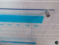 Perspex whiteboard, Family Planner, Perpetual Planner, Monthly Planner