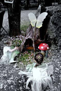 enchanted forest woodland fairy birthday party rustic tree fairy house