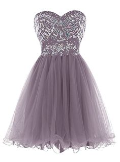 Strapless short Homecoming Dress with beadings,custom made,color free,fast delivery. Contact: bridetailor@hotmail.com