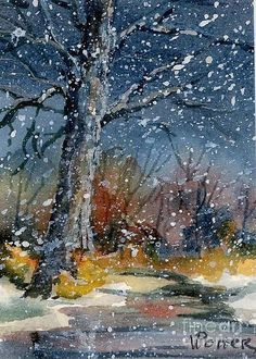 Early Snowfall Greeting Card by Virginia Potter