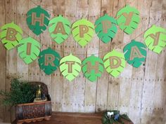 Themed Parties 155303887157429007 - Jungle Birthday Banner/Safari birthday banner/Birthday banner/Leaf banner/Jungle birthday/Jungle par Source by etsy Jungle Theme Birthday, Jungle Theme Parties, Wild One Birthday Party, Safari Birthday Party, Boy Birthday Parties, Birthday Party Decorations, Happy Birthday, Birthday Banners, Diy Safari Decorations