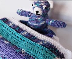 Hand Crocheted Baby Blanket & Matching Bear by Yarnettes on Etsy, $45.00