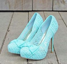 Beautiful shoes for a SOMETHING BLUE!