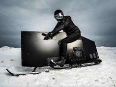 Sleek Snowmobile Snoped