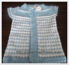 Marifetane- İğne Oyası ve Açıklamalı modeller: Örgü Bebek Yeleği Modeli knit baby vest http://www.marifetane.com/search/label/YELEK