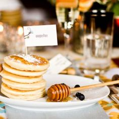 We Just Love All Of The Different Ways That You Can Put Together Mini Pancakes. They're Adorable! Check Out This Round Up Of Mini Pancake Stacks Ideas!