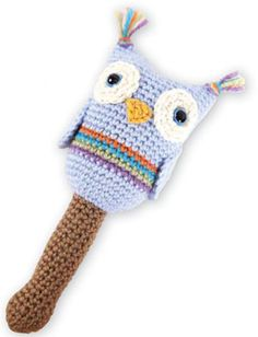 Owl Baby Rattle - Note  This is a crochet pattern even though it s from  knitted a5b8a93e4b1