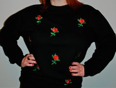 Welcome to Handmaiden. 'Small Roses' is from my new range of handmade embroidered sweatshirt. now available in limited numbers to buy at www.handmaidenlondon.com.