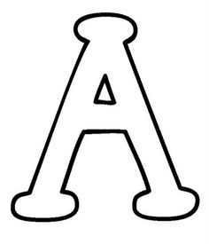 26 Best Alphabet Capital Coloring Pages for Kids - Updated 2018 Large Printable Letters, Big Letters, Letters And Numbers, Large Letter Stencils, A Letter, Alphabet Coloring Pages, Free Printable Coloring Pages, Coloring Pages For Kids, Bulletin Board Letters