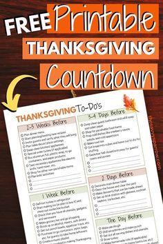 Hosting Thanksgiving this Year?  Grab this Free Printable Thanksgiving Checklist!
