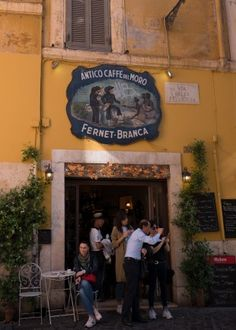 I apparently have similar taste to the Italians, but from my first Rome experience I'd say the Italians are unarguably KING of adorable cafe fronts. Italy Culture, Runaway Bride, Rome Italy, Coffee Travel, Pizza, Around The Worlds, Europe, Shots, Wanderlust