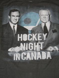Hockey Night in Canada broadcasters Don Cherry and Ron Maclean t-shirt. #hockey…