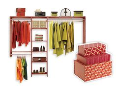 aromatic cedar closet kit  - Bed Bath & Beyond, patterned boxes - The Container Store
