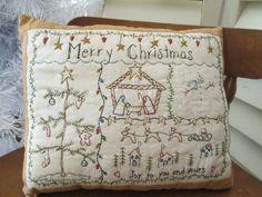 Hand Embroidered Christmas Season by StitchingTimeBoutiqu on Etsy