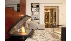 EcoSmart Fire Zeta featured in Private Residence, UK Ethanol Fireplace, Stove Fireplace, Fireplaces, Renewable Sources Of Energy, Corner Bathtub, Hearth, Your Design, Mid-century Modern, Mid Century