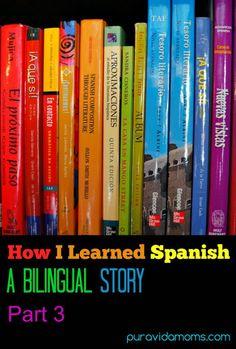 How learning Spanish in school wasn`t initially successful.  A bilingual article.  Bilingüe: artículo en español.