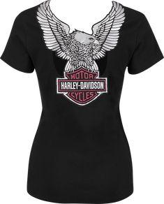 Harley-Davidson® Women's Shirt, Satin Back, Black