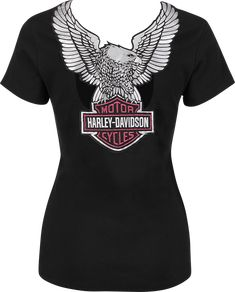 Harley-Davidson® Women's Shirt, Satin Back, Black
