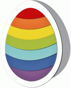 Silhouette Online Store - View Design #40477: decorative rainbow egg card