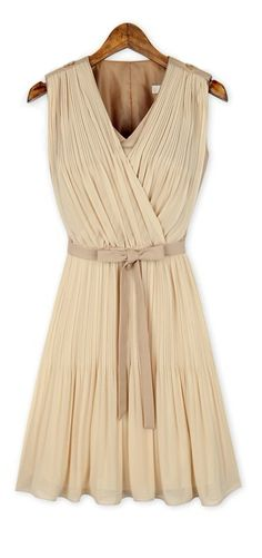 Grecian pleated dress