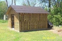 Don't throw those pallets away! Build a shed!