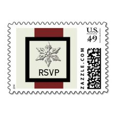 Snowflake Winter Wedding RSVP Postage Stamps. Wanna make each letter a special delivery? Try to customize this great stamp template and put a personal touch on the envelope. Just click the image to get started!