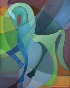 """""""Etruscan Horse"""" Oil on canvas x Blue painted wood floater frame © 2003 Marilyn Fenn Abstract Horse Painting, Abstract Art, Horse Paintings, Knife Painting, Abstract Sculpture, Abstract Landscape, Horse Quilt, Cubism Art, Painted Pony"""