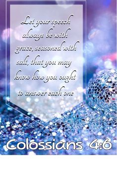 Colossians 4:6
