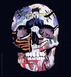 Jafabrit's Art: Skull in Stitch