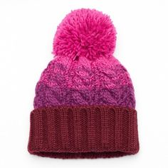 0a280274179 This women s SO beanie is fashionable with an ombre design and functional  with a warm cable-knit construction.