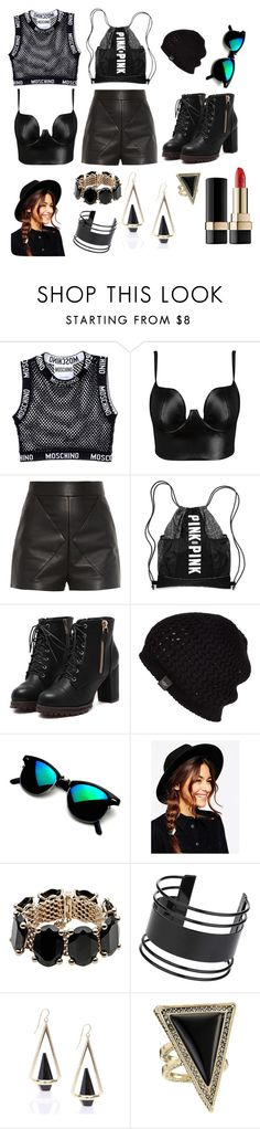 """""""Moschino Black"""" by hien-anhhs on Polyvore featuring mode, Moschino, Posh Girl, Balenciaga, UGG Australia, ASOS, Valentino, Topshop, House of Harlow 1960 et Dolce&Gabbana"""
