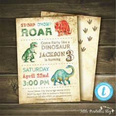Dinosaur Invitation Instant Download Edit Yourself With Templett Dino Mite Birthday Party